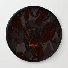 Modern Woodgrain Camouflage / British DPM Wall Clock