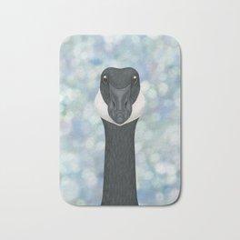 Canada goose woodland animal portrait Bath Mat