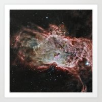 nasa Art Prints featuring NASA Flame Nebula by Artlala for MSF Doctors Without Borders