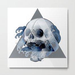 Fingerwave skull Metal Print