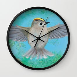 Goldcrest in top Wall Clock