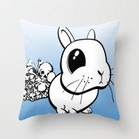 bunny Throw Pillows featuring Bunny by Bill Giersch