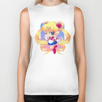 sailor moon Biker Tanks featuring Sailor Moon by Corpse Cutie