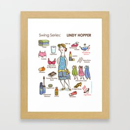 SWING SERIES: LINDY HOPPER (female) Framed Art Print