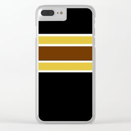 Team Colors...Brown , gold, white and black Clear iPhone Case