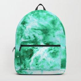 Sea Green Nebula Waves Backpack