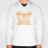 typewriter Hoodies featuring Typewriter by Jessica Slater Design & Illustration