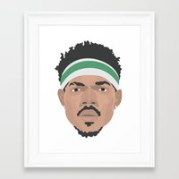 chance the rapper Framed Art Prints featuring Chance The Rapper by Josh Pearson