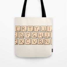 Qwerty Scrabble  Tote Bag