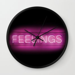 Feelings (Neon) Wall Clock