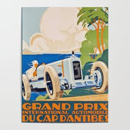 French Vintage Grand Prix poster Poster
