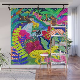 Jungle Party Animals Wall Mural