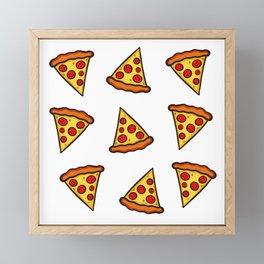Pizza Pattern Framed Mini Art Print