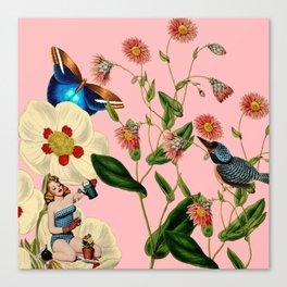 Big Flowers dream pink Canvas Print