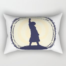 Stone Lady Rectangular Pillow