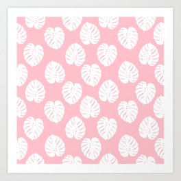Basic monstera hipster house plant leaf tropical vibes for home decor office dorm room Art Print