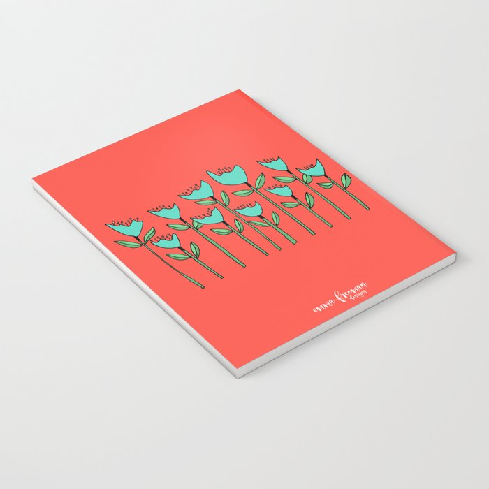 Colorful Floral Drawing Notebook