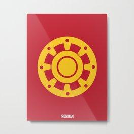 Minimalist Ironman Poster Metal Print