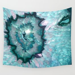 Teal Agate Wall Tapestry