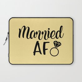 Married AF - Light Yellow Laptop Sleeve