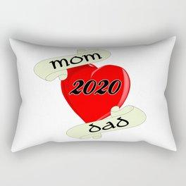 Mom and Dad 2020 Heart Rectangular Pillow