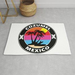 Surf Cozumel Mexico Rug