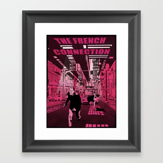 The French connection vector Framed Art Print