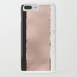 Rose metallic striping - marble and onyx iPhone Case