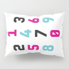 Typography Numbers #1 Pillow Sham