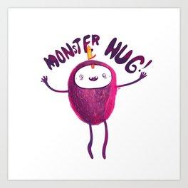 Monster Hug  Art Print