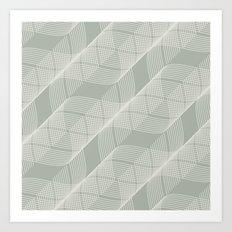 Gray Grey Helix Art Print