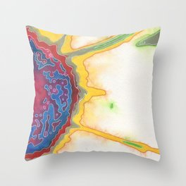 danielle returns (with gifts) Throw Pillow