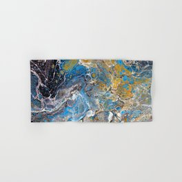 Mineralogy - Abstract Flow Acrylic Hand & Bath Towel