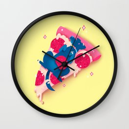 Pizza Pup Wall Clock