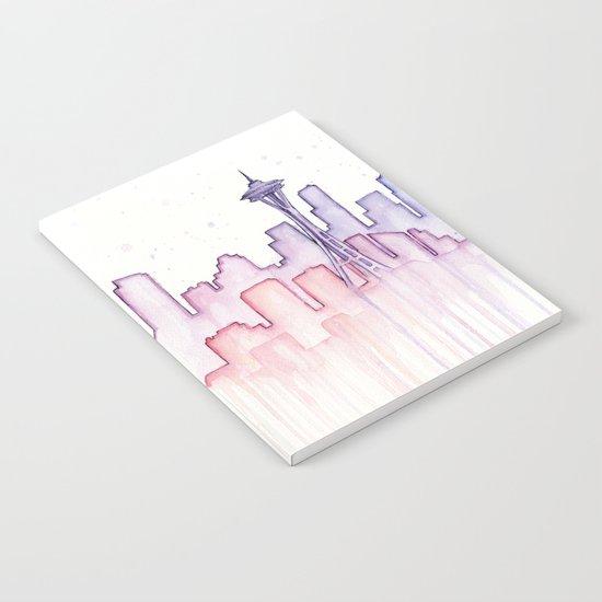 Seattle Skyline Watercolor Notebook