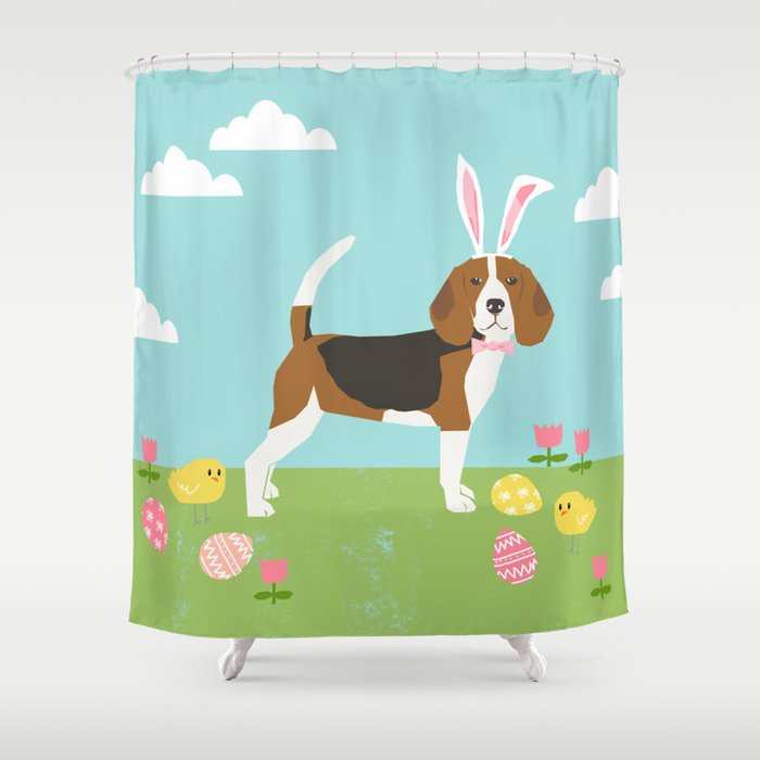 Beagle Easter Bunny Spring Dog Gifts Beagles Must Haves Shower Curtain