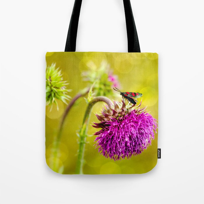 Butterfly and а thistle Tote Bag