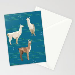 Peruvian Llamas Stationery Cards