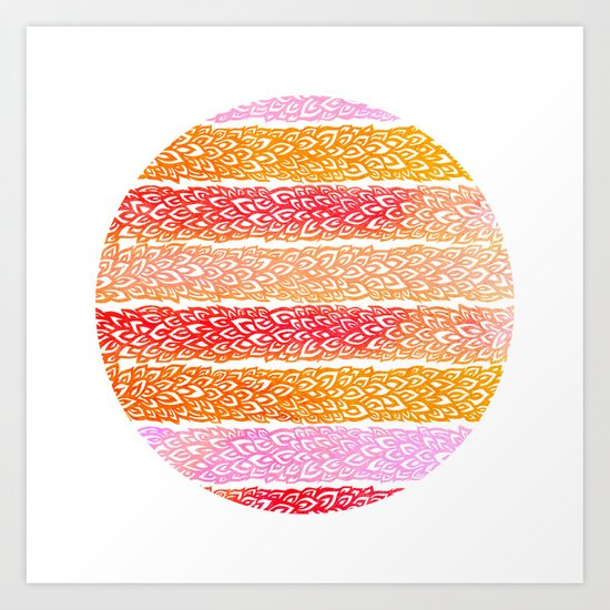 Organic Sun Art Print