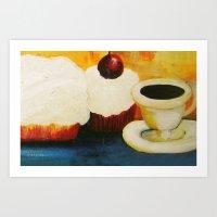 dessert Art Prints featuring Dessert! by Jennifer Maroney