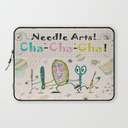 Needle Arts! Cha-Cha-Cha! Laptop Sleeve
