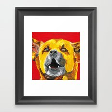 bus stop barker Framed Art Print