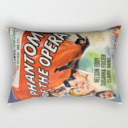 vintage horror movie poster Rectangular Pillow
