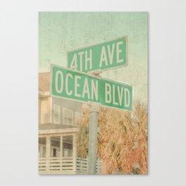 Ocean Boulevard Canvas Print