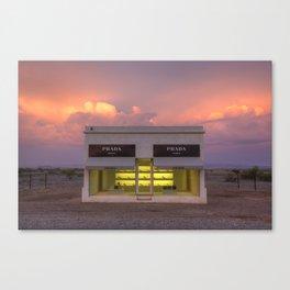 Marfa at sunset Canvas Print