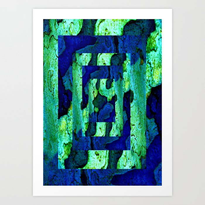 Nature in green blue 2 Art Print