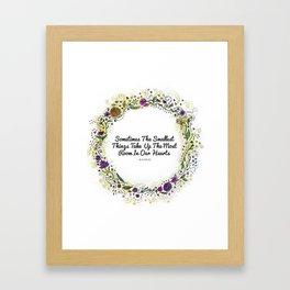 Smallest things flower wreath Framed Art Print
