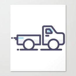 Utility Car Lineart Icon Canvas Print