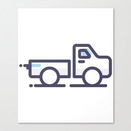 Utility Car Lineart Icon Canvas Print