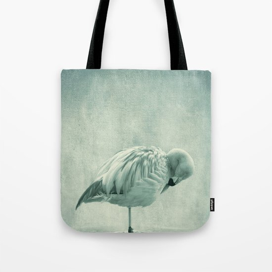 Flamingo Blues Tote Bag